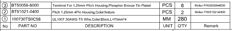Wire Harness and Connector Example - Engineering Specifications